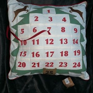 Pottery Barn Christmas Countdown Pillow